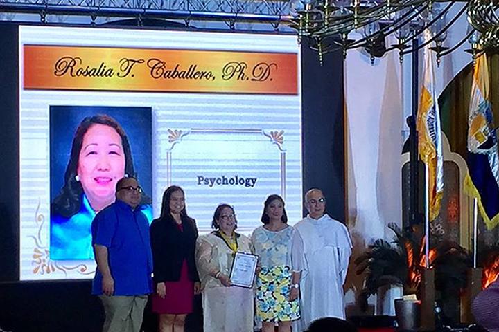 """Saint Antoninus Outstanding Alumni Award"" and ""Distinguished Faculty Award"""