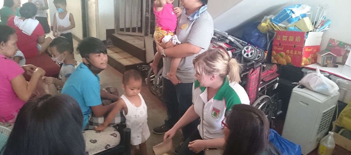 Outreach w/Uni-Tankers' Donor Ms. Alexandra Olofsson - Home for Pediatric Cancer Patients (August 2016)