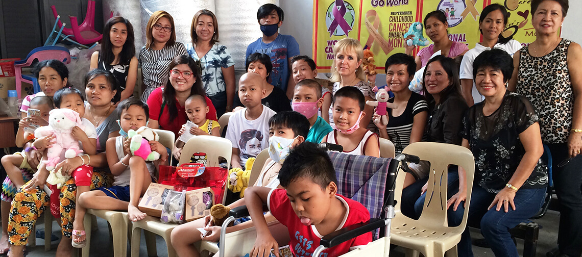 OUTREACH W/MS. MIA FLY at HOME FOR PEDIATRIC CANCER PATIENTS (March, 2017)